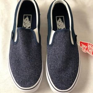 Vans Classic Slip-On Suede & Suiting DR BLS Shoes
